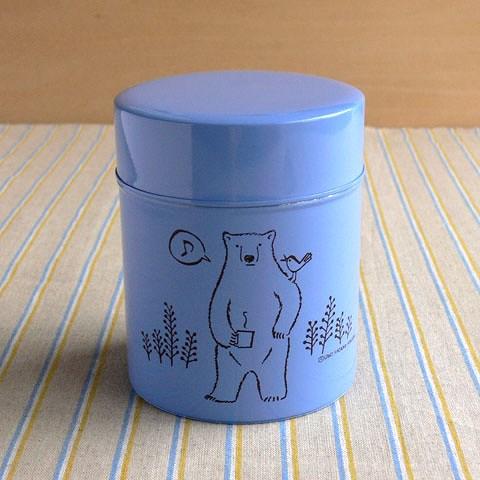 コーヒー保存缶 波多野光 ブルー