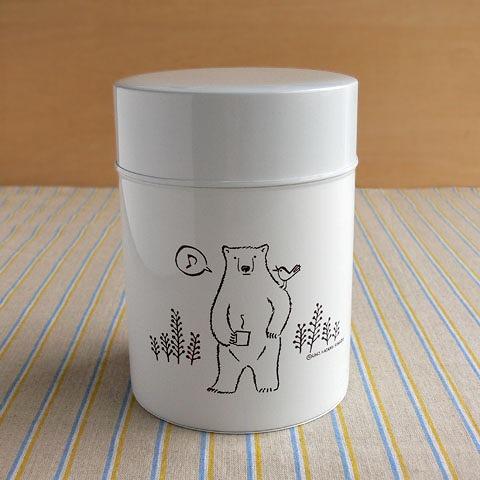 コーヒー保存缶 波多野光 ホワイト