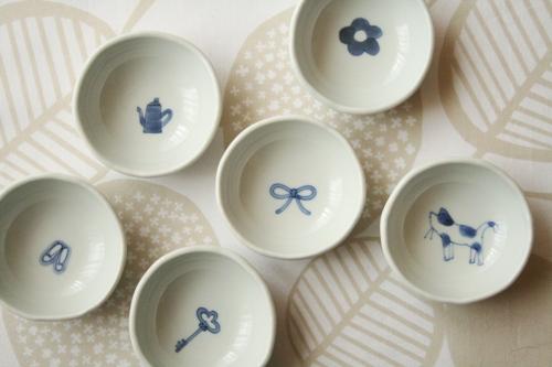 砥部焼・森陶房:kaori豆皿