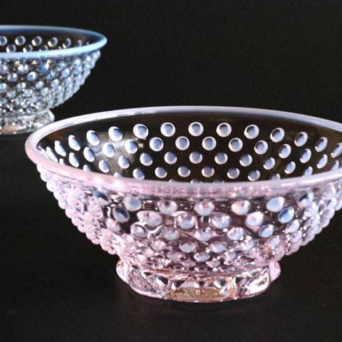 雪月花ガラス小鉢