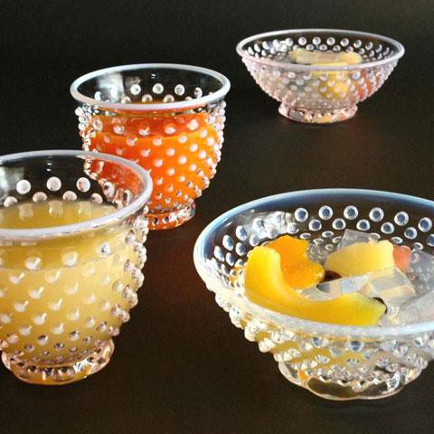 雪月花ガラス小鉢・タンブラー小