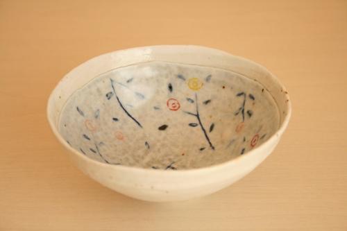 砥部焼:西山千代子:色絵飯碗