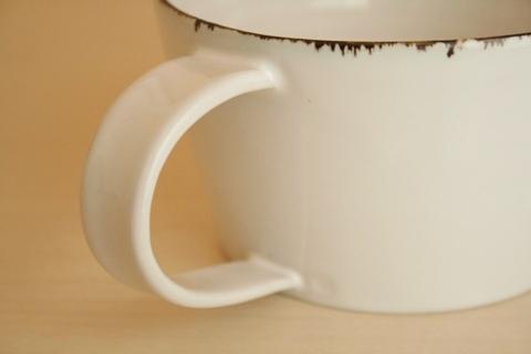 ななはち窯:白釉 スープマグ