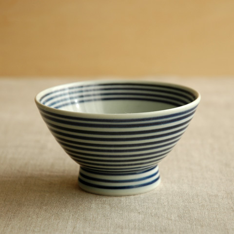 藍駒茶碗 小