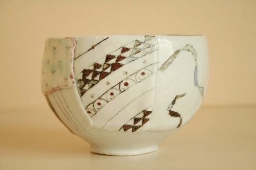 西山千代子:丸鉢〈はり合わせ〉