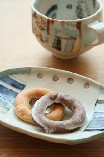 西山千代子:浅鉢・マグカップ〈はり合わせ〉