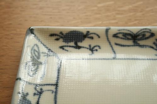 砥部焼・梅山窯:六寸七分角布目皿