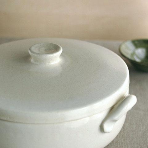 4th-marketパテ9号土鍋 白