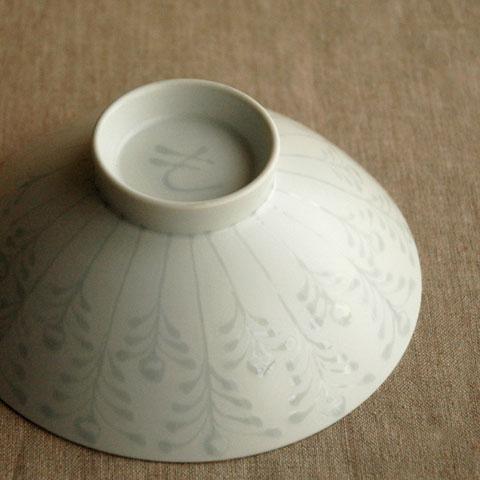 白山陶器 平茶碗 裏側