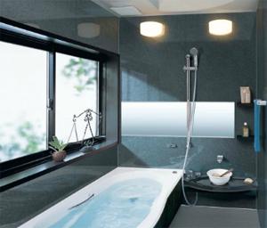 黒い風呂場イメージ