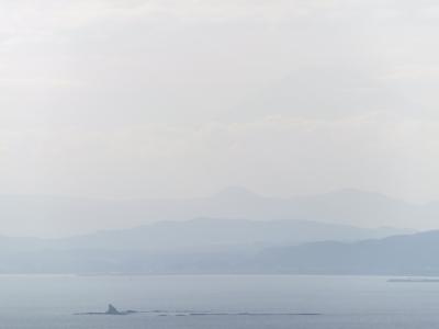 烏帽子岩と富士