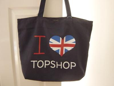 トップショップ TOPSHOP  I LOVE TOP SHOP ECO BAG