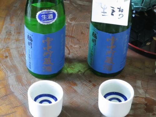 雪中貯蔵酒の試飲
