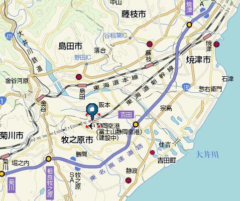 富士山静岡空港地図