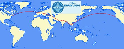 PanAm Around the world map