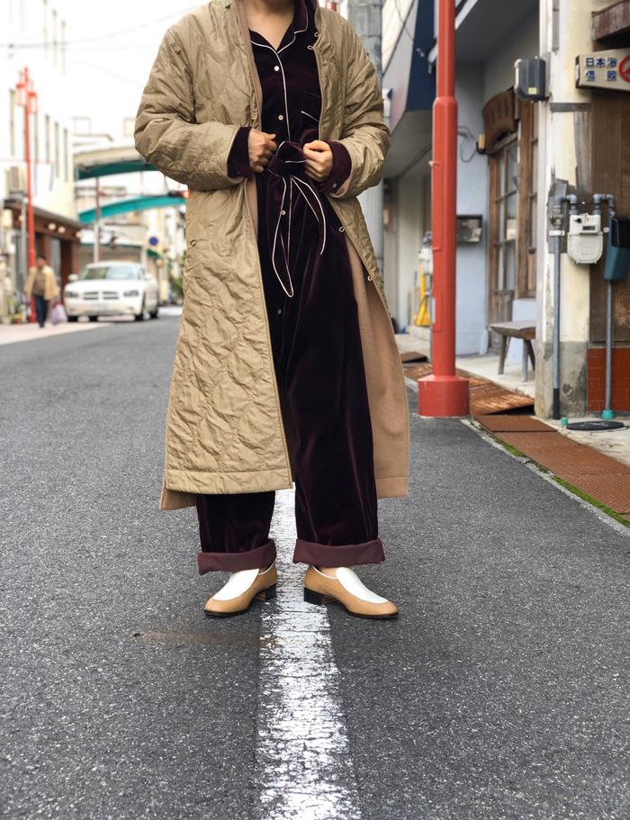 WRYHT/ASYMMETRY FRONT REVERSIBLE ORIENTAL COAT