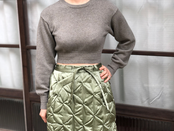 FUMIKA_UCHIDA/SILK/COTTON QUILT SKIRT