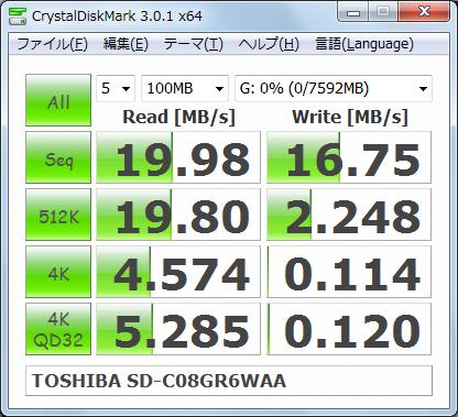 Graphics1335 TOSHIBA SD-C08GR6WAA 1回目