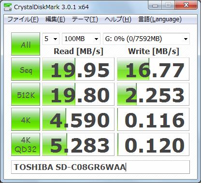 Graphics1337 TOSHIBA SD-C08GR6WAA 2回目