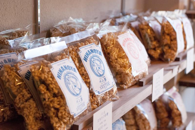 店に並ぶパン豆