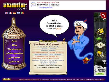 Akinator, the Web Genius