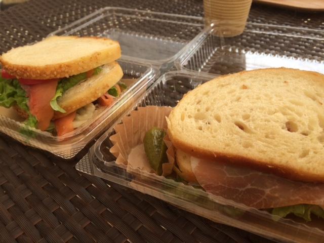 セタビカフェのサンドイッチ