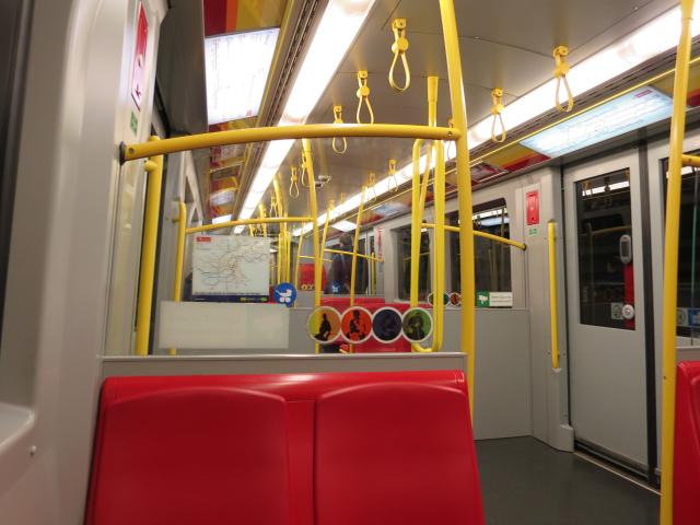 ウィーン地下鉄の中