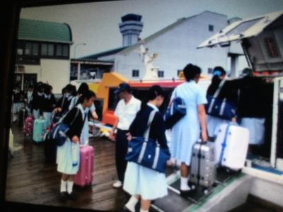 長崎空港からハウステンボスまでは高速フェリーで移動です。