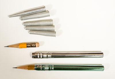 鉛筆キャップとホルダー