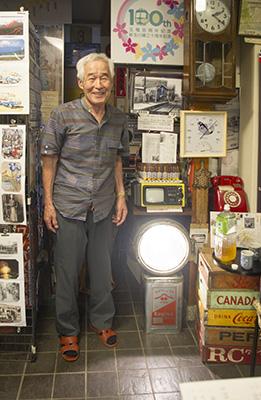 玉電と郷土の歴史館 ライト点灯