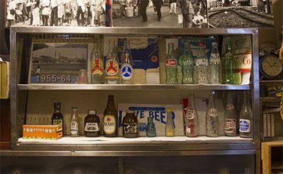 玉電と郷土の歴史館 空瓶空箱コレクション