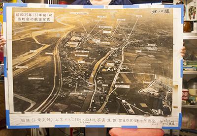 昭和39年の砧線航空写真