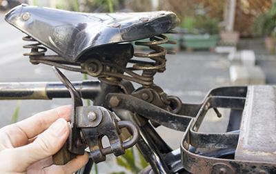自転車のリヤカーの牽引具