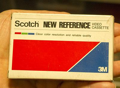 スコッチカセットテープのトランプ