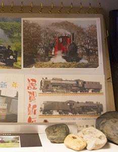 蒸気機関車の年賀ハガキ