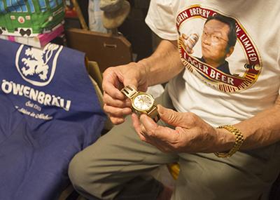 歴史館館長の昔の腕時計