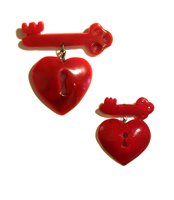 Open Heart Pin (A Plastic Jewelry & Arty.)