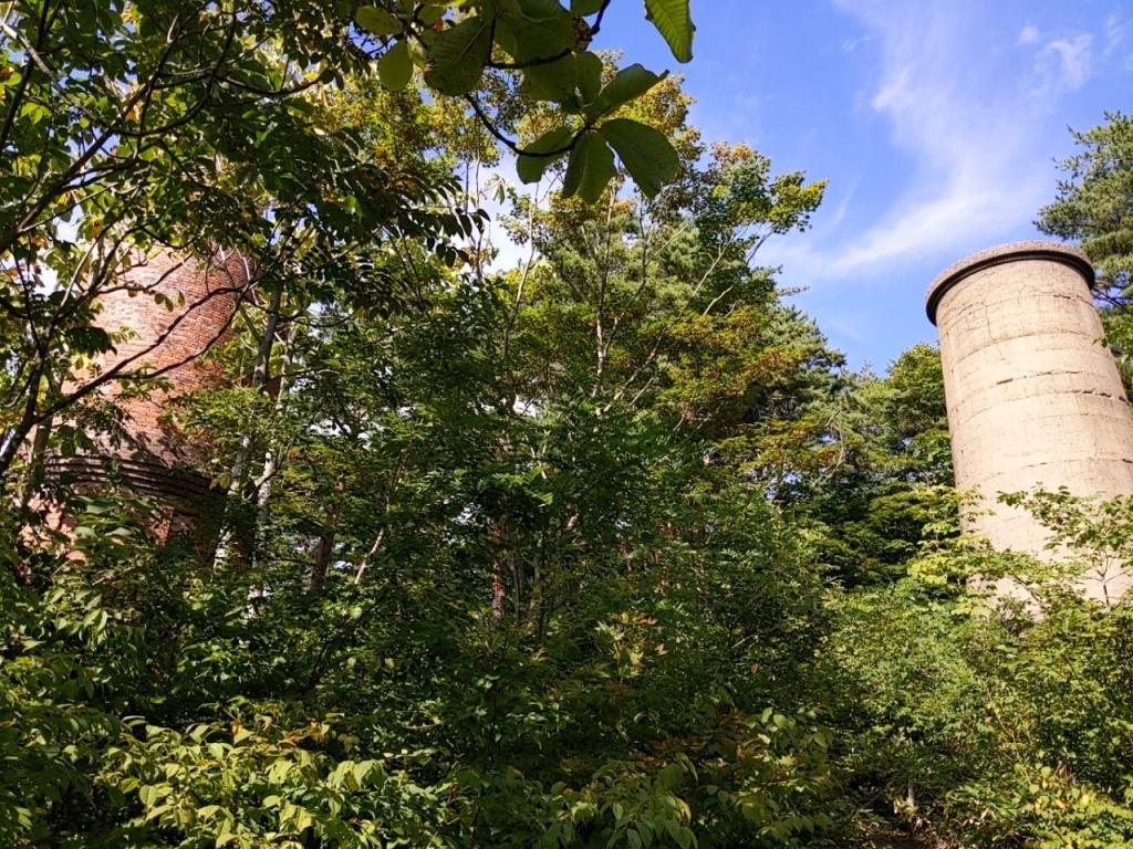 安倍城鉱山跡の煙突跡