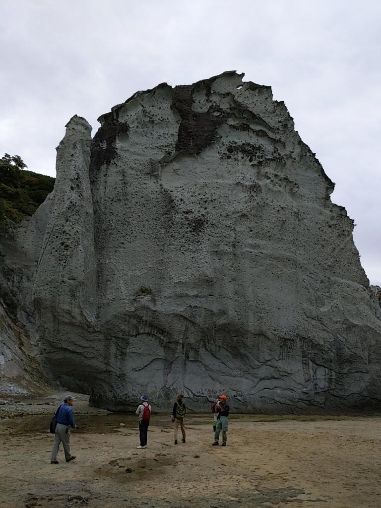 仏ヶ浦の火砕岩観察