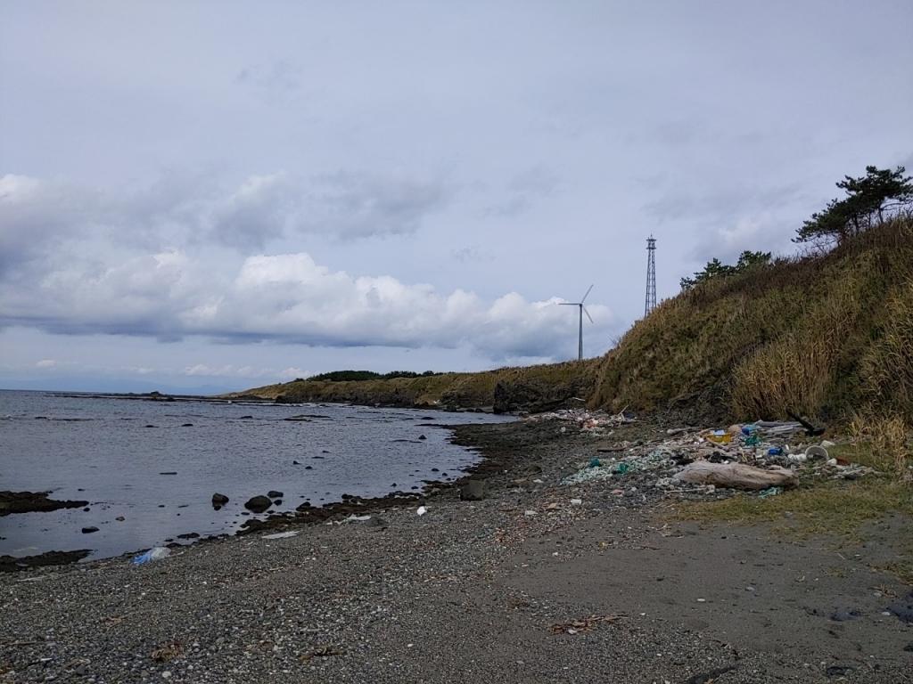 古佐井の海岸(水底火山噴出物観察地点)
