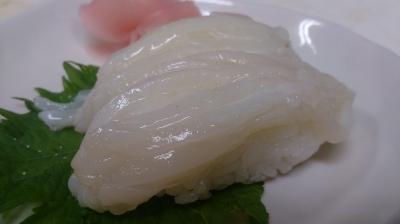 すだちと塩で食べるイカの握り寿司!