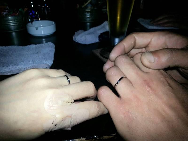 結婚指輪ショット♪