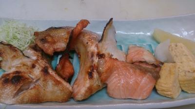 鮭かま塩焼き
