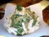 水菜と島豆腐のさらだ