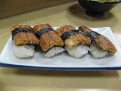 都島寿司喜六のウナギにぎり