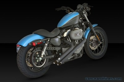Harley Davidson XL1200N with Vance and Hines Sideshot