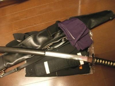 居合刀と胴着・袴