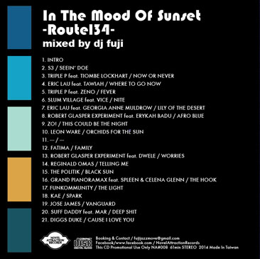 DJ FUJI / In The Mood Of Sunset - Route134 ura