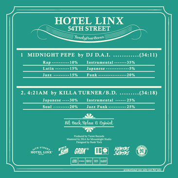 DJ D.A.I. &KILLA TURNER a.k.a. B.D. / HOTEL LINX (MIX-CD) side b