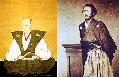 織田信長(左) と 坂本龍馬(右)